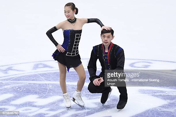 Cheng Peng and Yang Jin of China compete in the Pairs short program during the ISU Grand Prix of Figure Skating NHK Trophy on November 25 2016 in...