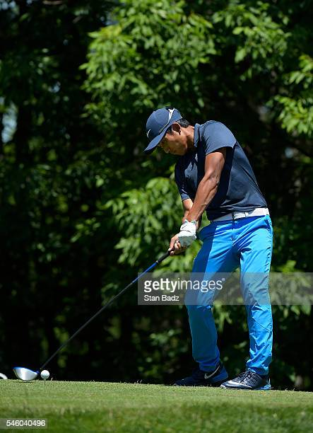 Cheng Tsung Pan hits a drive on the eighth hole during the final round of the Webcom Tour LECOM Health Challenge at Peek'n Peak Rst Upper Course on...