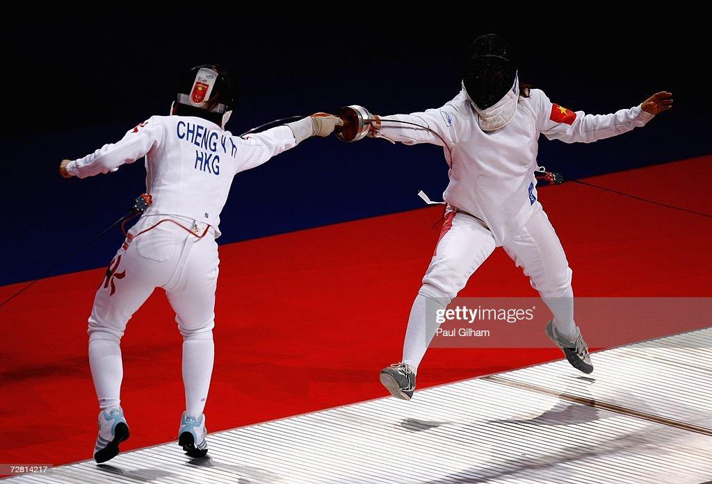 15th Asian Games Doha 2006 - Fencing : Nyhetsfoto