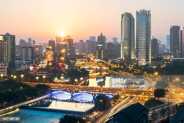 Chengdu at sunset