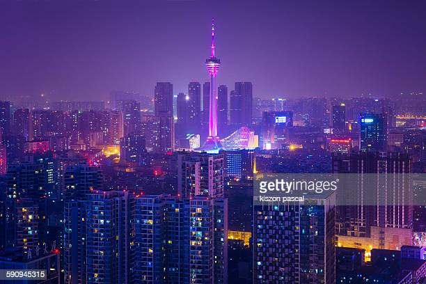 Chengdu by night ( Sichuan , China )
