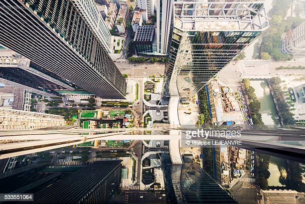 Chengdu looking down from skyscraper