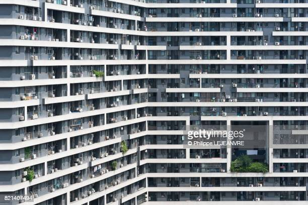 Chengdu - Residential building with white lines