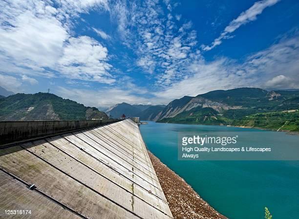 chengdu zipingpu dam - dam china stock pictures, royalty-free photos & images
