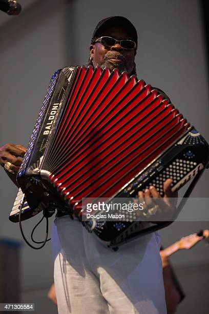 Chenier & the Red Hot Louisiana Band perform during the 2015 New Orleans Jazz and Heritage Festivlal presented by Shell at the Fair Grounds Race...