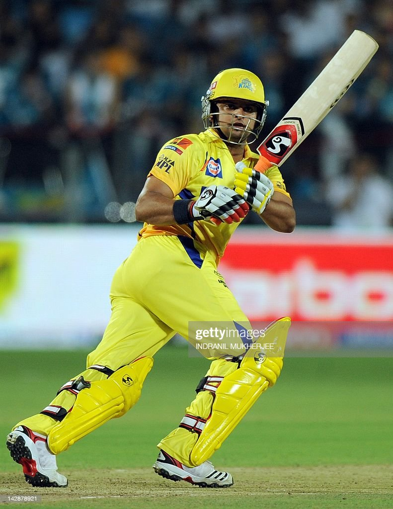 Chennai Super Kings batsman Suresh Raina : News Photo