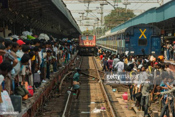 chennai train station - tamil nadu stock pictures, royalty-free photos & images
