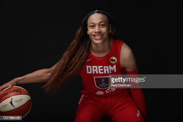 Chennedy Carter of the Atlanta Dream poses for a portrait during Media Day on July 16, 2020 at IMG Academy in Bradenton, Florida. NOTE TO USER: User...