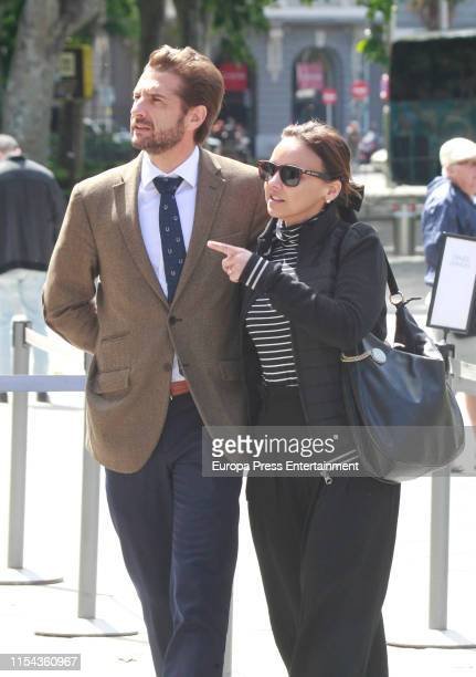 Chenoa and her boyfriend Miguel Sanchez Encinas are seen on May 17 2019 in Madrid Spain