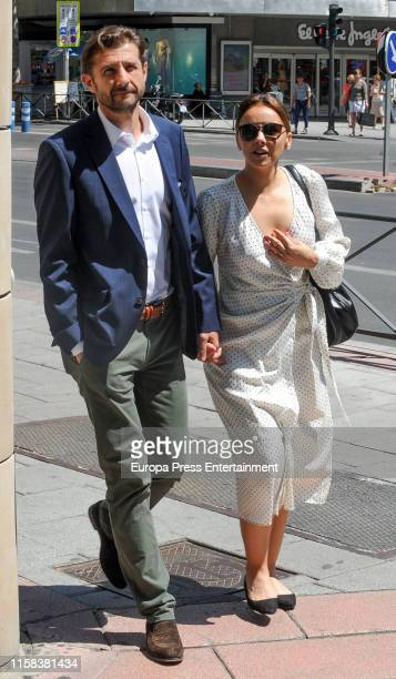 Chenoa and Miguel Sanchez Encinas are seen on June 25 2019 in Madrid Spain