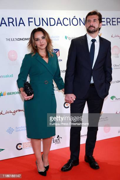 Chenoa and Miguel Sánchez Encinas attend 'Fundacion Querer' solidarity dinner at Hotel Villamagna on November 07 2019 in Madrid Spain