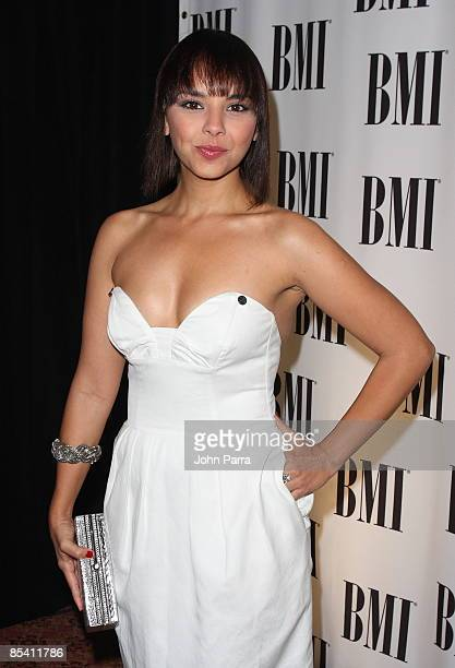 Chenoa arrives at the 16th Annual BMI Latin Music Awards at Breakers Hotel on March 12 2009 in Palm Beach Florida