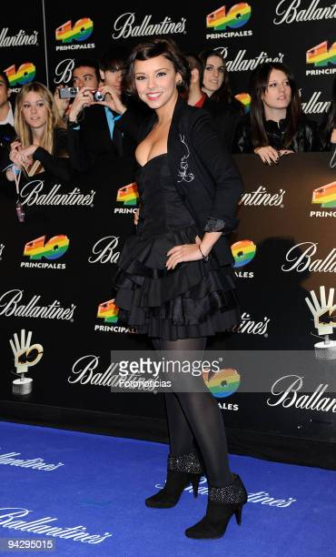 Chenoa arrives at the ''40 Principales'' Awards at the Palacio de Deportes on December 11, 2009 in Madrid, Spain.
