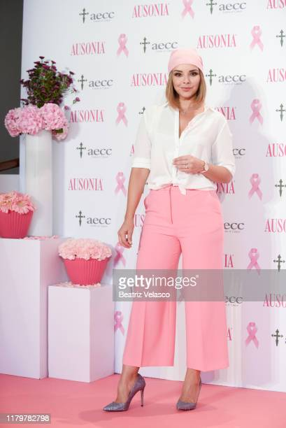 Chenoa attends Ausonia Against Breast Cancer event at the Espacio AECC on October 08 2019 in Madrid Spain