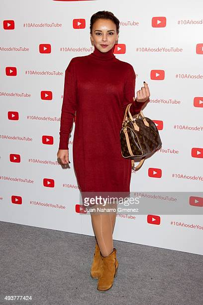 Chenoa attends YouTube 10th Anniversary Gala at Giner de los Rios Foundation on October 22 2015 in Madrid Spain
