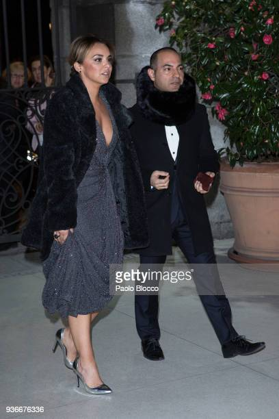 Chenoa is seen attending the III The Global Gift Gala at ThyssenBornemisza museum on March 22 2018 in Madrid Spain