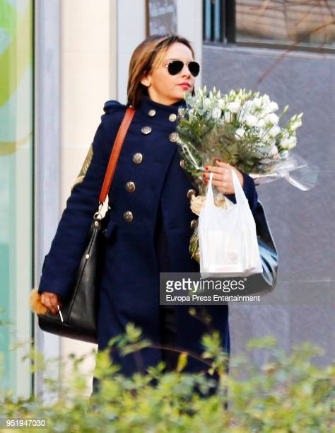 Chenoa is seen on February 12 2018 in Madrid Spain