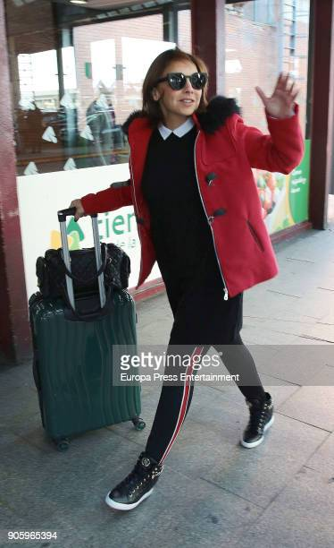 Chenoa is seen on January 16 2018 in Madrid Spain