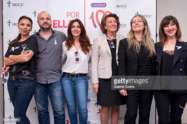 Chenoa Javi Nieves Mar Amate Isabel Oriol Mercedes Ferrer and Mai Meneses Present 'Color Esperanza' Song in Madrid on October 17 2013 in Madrid Spain