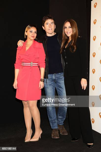 Chenoa Manel Fuentes and Monica Naranjo attend the presentation of 'Tu cara no me suena todavia' on March 8 2017 in Madrid Spain