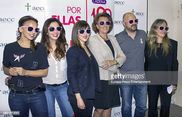 Chenoa Mar Amate Mai Meneses Isabel Oriol Javi Nieves and Mercedes Ferrer present 'Color Esperanza' Song on October 17 2013 in Madrid Spain