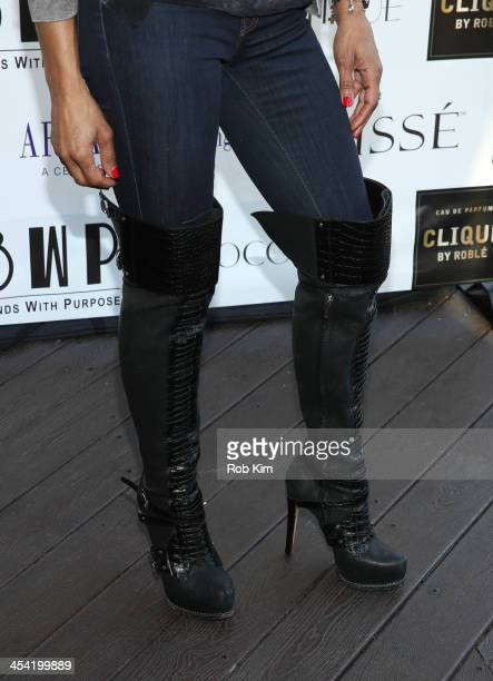Chenoa Maxwell attends the Clique by Roble fragrance launch event at The DL on December 7 2013 in New York City