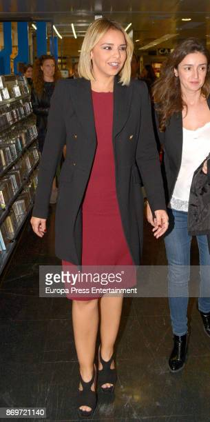 Chenoa signs copies of her book 'Defectos Perfectos' on November 2 2017 in Madrid Spain