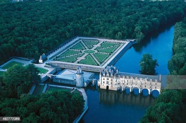 Chenonceaux castle built on the River Cher 16th century Centre France