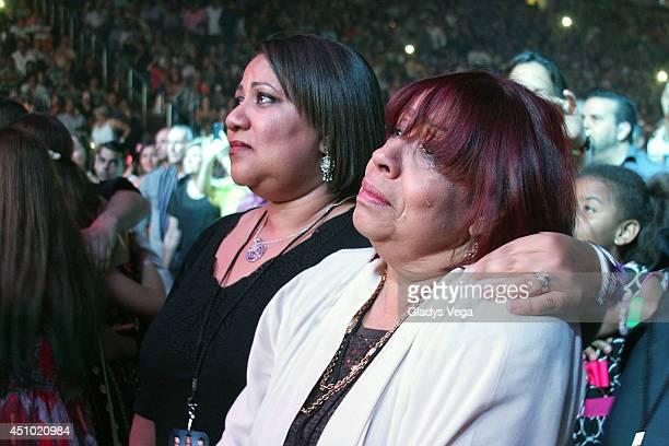 Cheo Feliciano's daughter Michelle Feliciano and her mother Cheo Feliciano's widow Coco Feliciano attend Dos Soneros Cantan A Cheo Feliciano Concert...