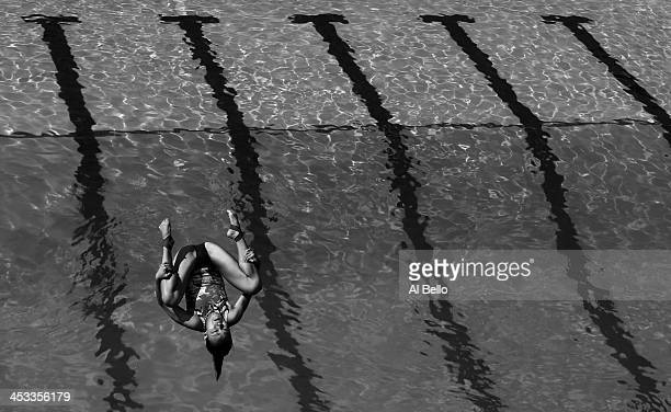 Cheong Jun Hoong of Malaysia dives during the Women's 3 meter Springboard Semi Finals at the Fort Lauderdale Aquatic Center on Day 1 of the ATT USA...