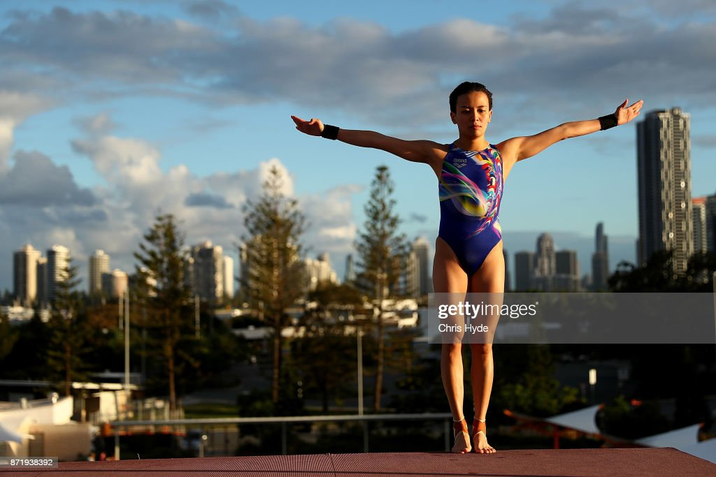 Cheong Jun Hoong of Malaysia dives in the warm up during the FINA Gold Coast Diving Grand Prix at the Gold Coast Aquatic Centre on November 9, 2017 in Gold Coast, Australia.