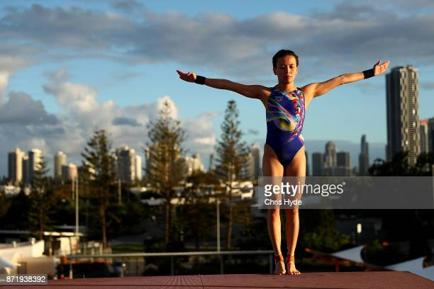 Cheong Jun Hoong of Malaysia dives in the warm up during the FINA Gold Coast Diving Grand Prix at the Gold Coast Aquatic Centre on November 9 2017 in...
