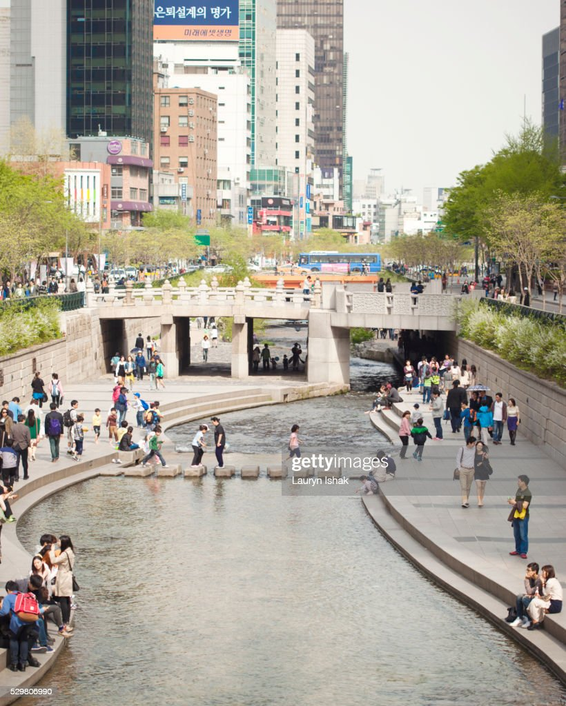 Cheonggyecheon, Seoul, South Korea : Stock Photo