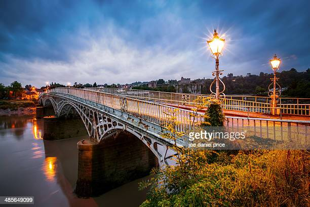 chepstow bridge - chepstow stock pictures, royalty-free photos & images