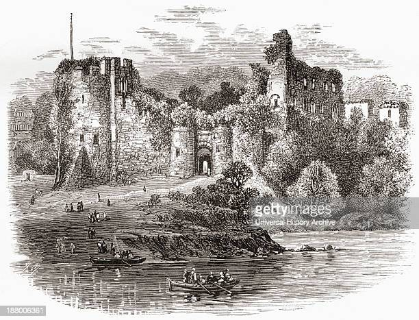 Chepstow Castle Chepstow Monmouthshire Wales Seen From The River Wye In The Late 19Th Century From Our Own Country Published 1898