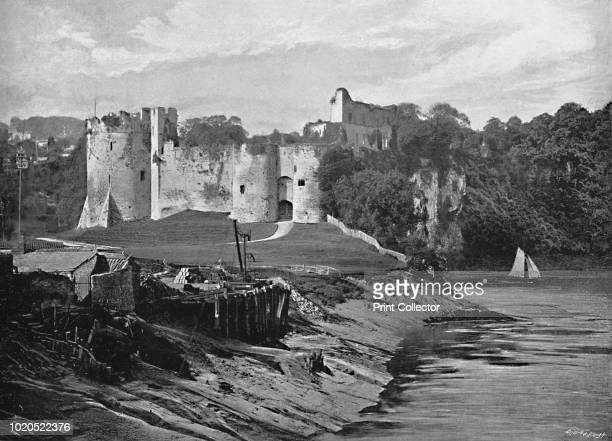 Chepstow Castle' circa 1896 From Pictorial England and Wales [Cassell and Company Limited London Paris Melbourne circa 1896] Artist Harvey Barton