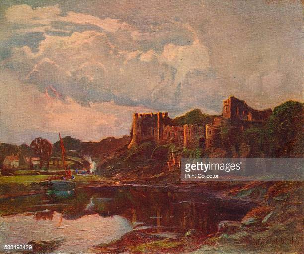 Chepstow Castle located in Chepstow Monmouthshire in Wales is set on top of cliffs overlooking the River Wye It is the oldest surviving postRoman...