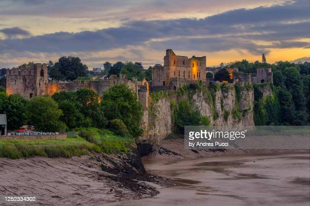 chepstow castle, monmouthshire, wales, united kingdom - chepstow castle stock pictures, royalty-free photos & images
