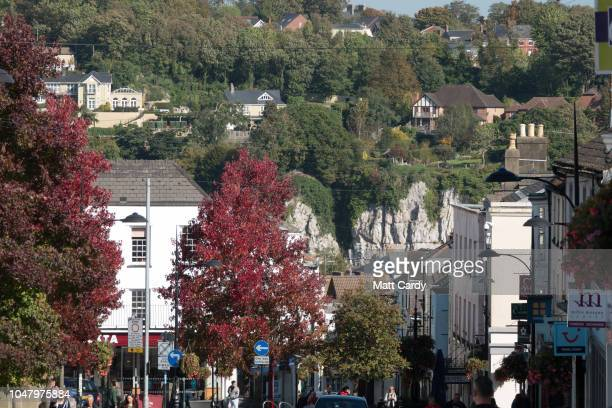 Chepstow is pictures near the the M48 Severn Bridge on October 9 2018 in Chepstow Wales Last week at the Conservative Party Conference Welsh...