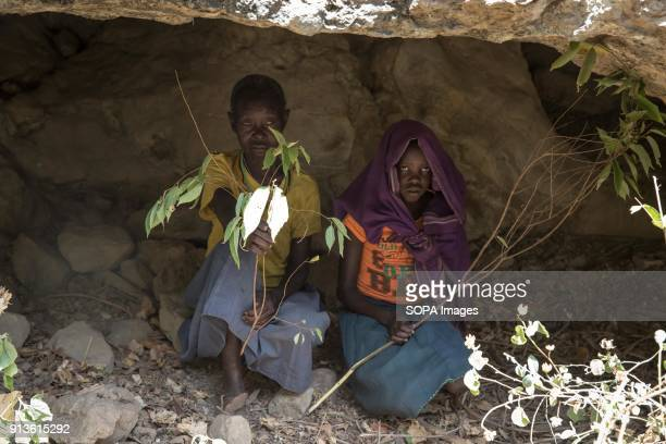 "Chepureto Lebul, a former ""cutter"", and a young girl from the Pokot tribe part in a reenaction of the ceremony Pokot tribal people perform before a..."