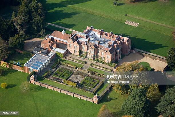 Chequers Buckinghamshire 2007 Aerial view of the Tudor mansion which has been the official country residence of British Prime Ministers since 1921...