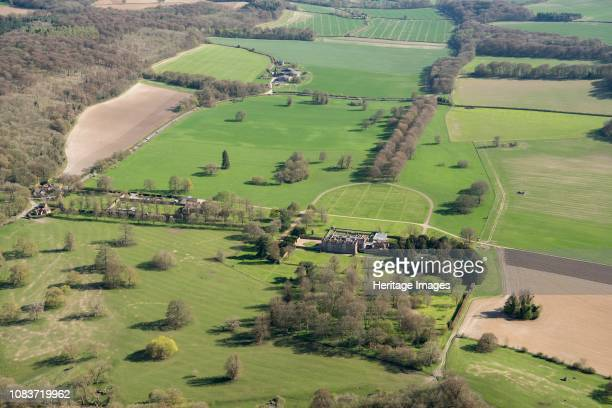 Chequers Ellesborough Buckinghamshire 2018 Aerial view of the Tudor mansion official country residence of the UK Prime Minister since 1921 Artist...