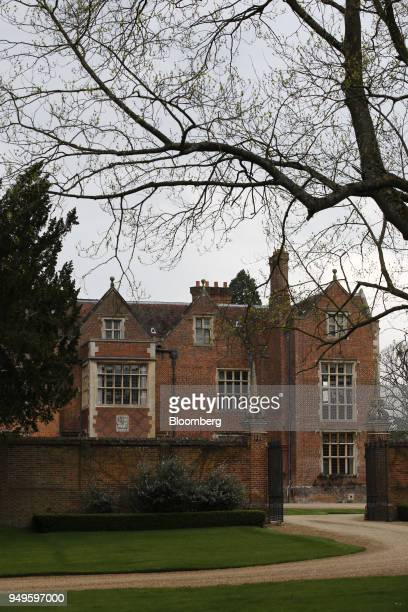 Chequers the country residence of the UK prime minister stands in Aylesbury UK on Saturday April 21 2018 The meeting between UK prime minister...