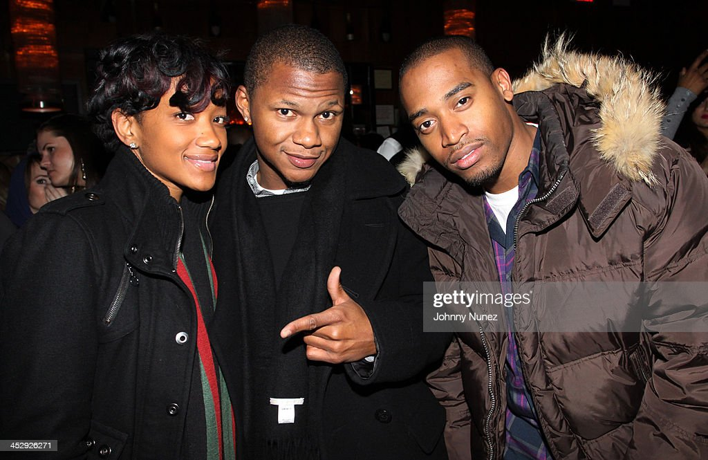 Chequetta Jones, Tyrone Davis, and Ray Romulus attend Sari Baez's Birthday celebration at Marquee on November 30, 2009 in New York City.