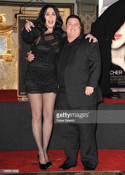 Cher and Cahz Bono attends Hand And Footprint Ceremony At Grauman's Chinese Theatre>> at Grauman's Chinese Theatre on November 18 2010 in Hollywood...