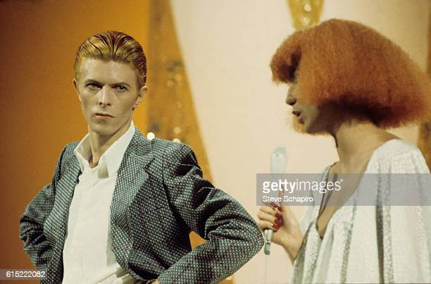 Cher and David Bowie on the Cher Show