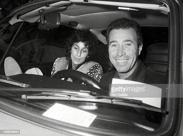 Cher and David Geffen during Cher and David Geffen Sighting Outside La Scala Restaurant in Beverly Hills January 30 1983 at La Scala Restaurant in...