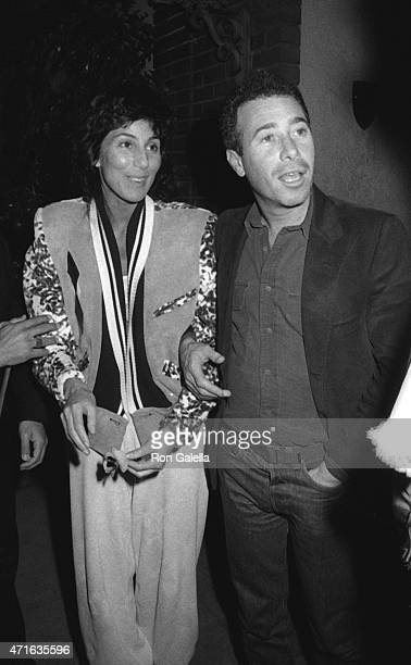 Cher and David Geffen sighted on January 30 1983 at La Scala Restaurant in Beverly Hills California