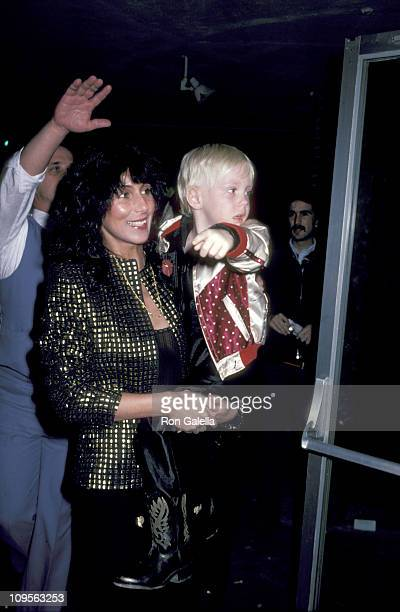 Cher and Elijah Blue Allman during Cher Sighting at 'The Rocky Horror Show' and After Party February 24 1981 at The Aquarius Theater and Lingering...