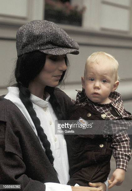 Cher and Elijah Blue Allman during Cher Visits 'The Stanley Siegel Show' September 23 1977 at Pierre Hotel in New York City New York United States